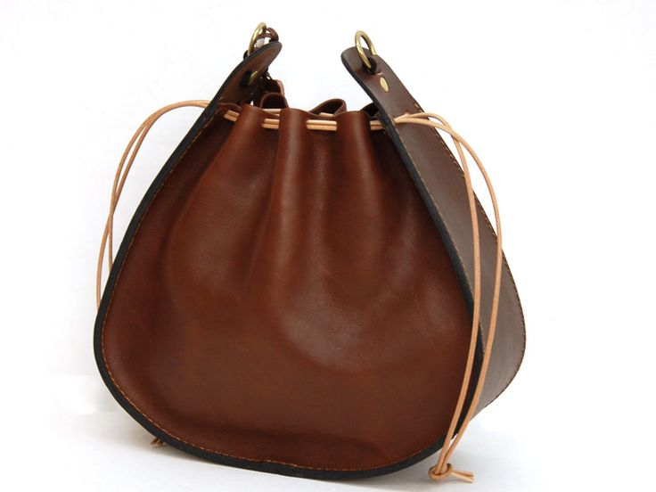 Drawstring bag chocolate