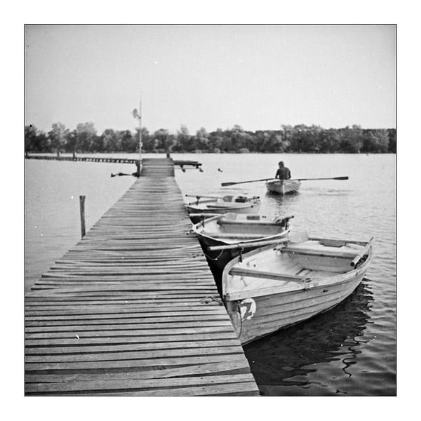 Boatman - Old looking black and white photography, taken on film by old style analog camera.  Choose it if you wish bring some unique atmosphere into you room or office.