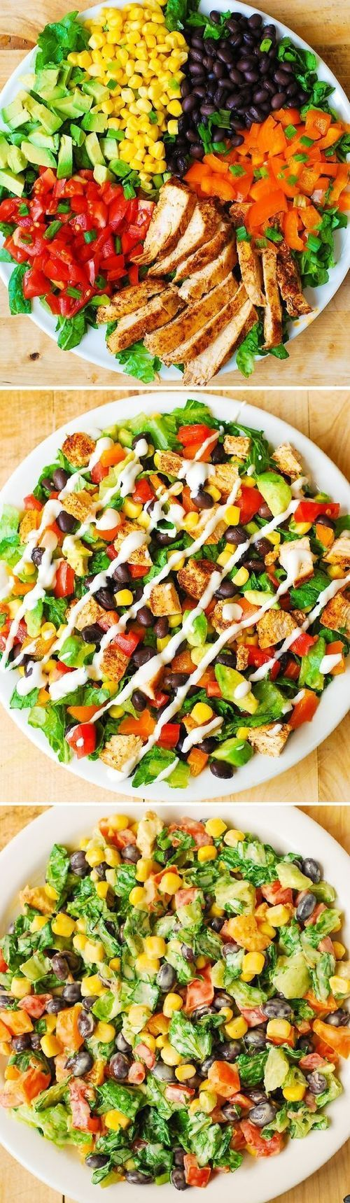 Southwestern Chopped Salad with Buttermilk Ranch Dressing Recipe / Buzz Inspired on imgfave