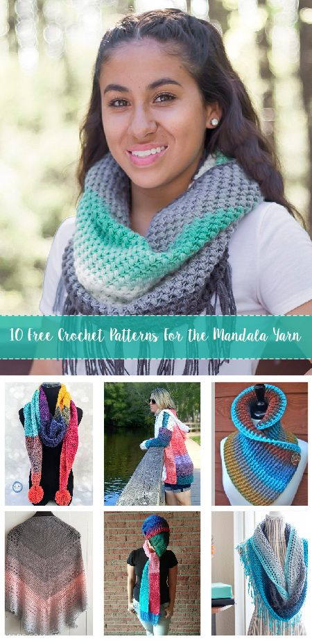10 Free Crochet Patterns For the Mandala Yarn by Lion Brand Yarns. Find gorgeous and free patterns designed for the Mandala Yarn
