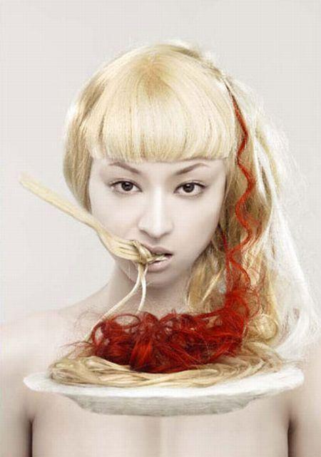 nagi noda, hair, fantasy hair, japan, spaghetti hair, audrey kitching