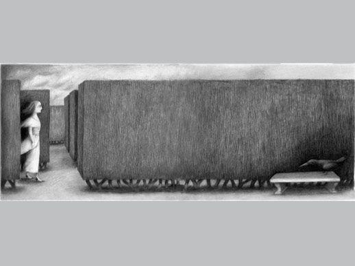 """De la carpeta Black Rose de Ana Juan. """"Sin título 4"""", estampa digital con impresión múltiple. 32,76x86 cm. Papel Somerset enhanced, velvet 100% algodón, 330 gr. 25 ejemplares. Firmada y numerada por la autora."""