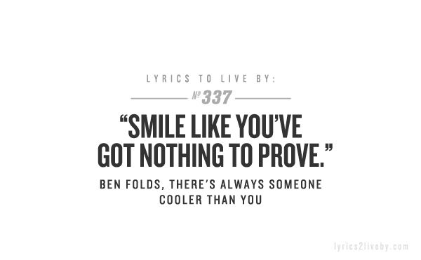 Ben Folds - Learn to Live with What You Are (Video) - YouTube