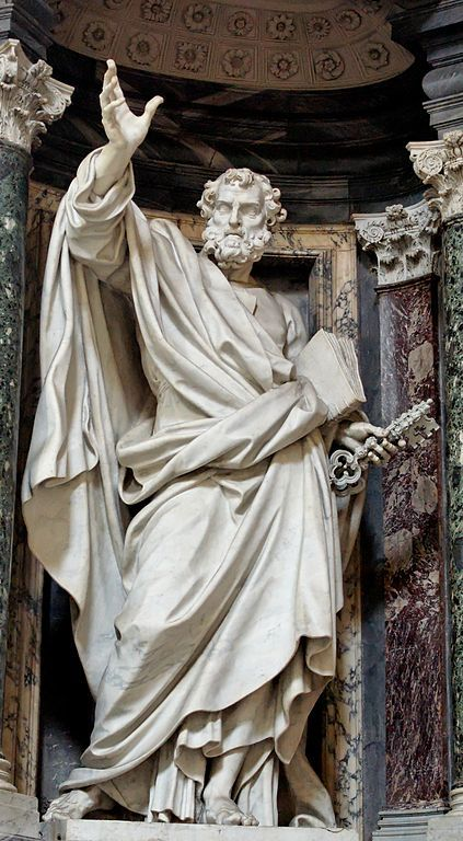 St. Peter by Pierre-Étienne Monnot. Nave of the Basilica of St. John Lateran (Rome).