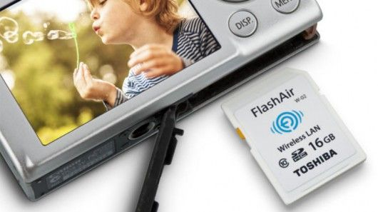 Toshiba has updated its FlashAir wireless SD card with the FlashAir II, which, like the Eye-Fi and Transcend WiFi cards, functions as its own wireless LAN access point to let users upload photos directly from their digital camera to a tablet, smartphone or PC.