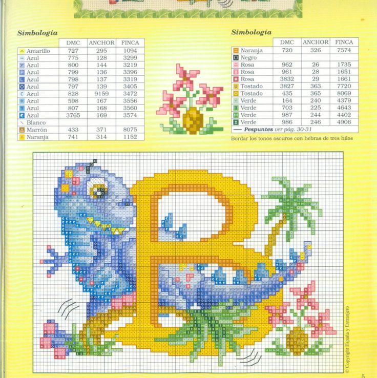 32 Best CrossStitch Dino Images On Pinterest