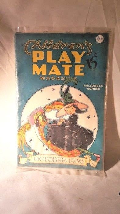 Childrens Play Mate Magazine Oct. 1936  Halloween Number  Fern Bisel Peat