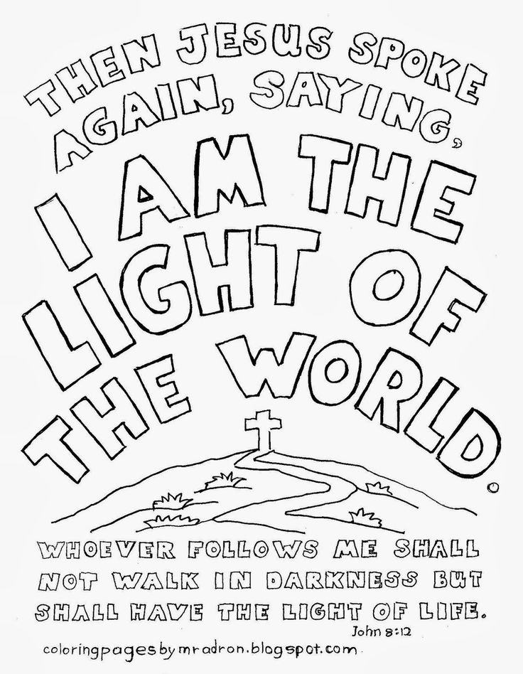Coloring Pages For Kids By Mr Adron I Am The Light Of World