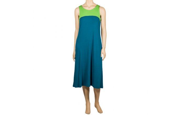 Vestido de tirantes en verde y azul #InstintoBcn #SummerFashion #DesignInBarcelona