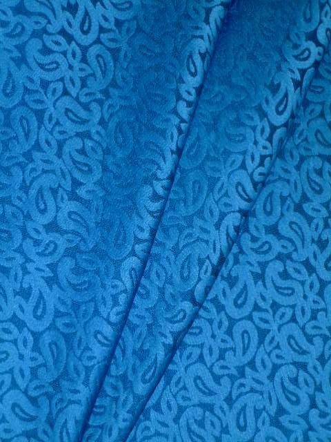 Commercial Paisley And Floral Woven Upholstery Fabric
