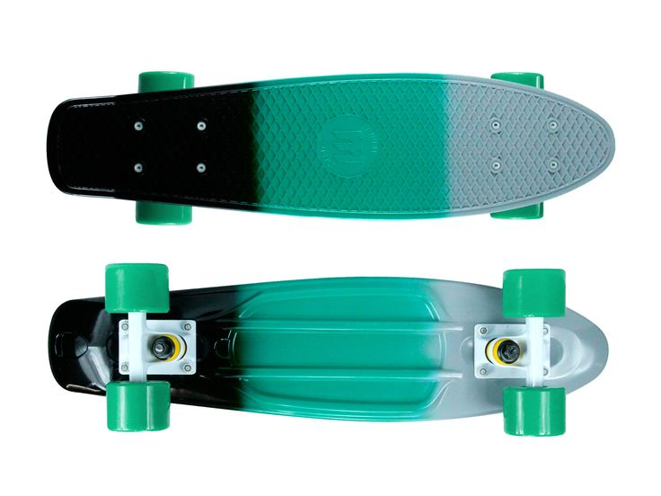 "Zycle Fix Mayhem 22"" Penny Style Skateboard (3D Grey/Green)"
