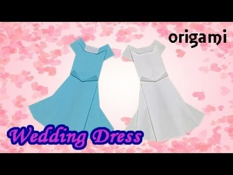 How to Make a Paper Wedding Dress | Origami  Wedding Dress Eay but Cool for Beginners with 1 Paper