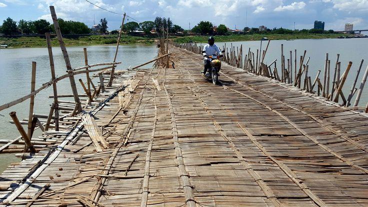 Bamboo bridge, Kampong Cham