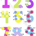 This is an original PDF created to help students who use touch math. It includes each number's counter points as well.