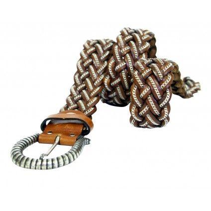 NANNI leather and chain belt