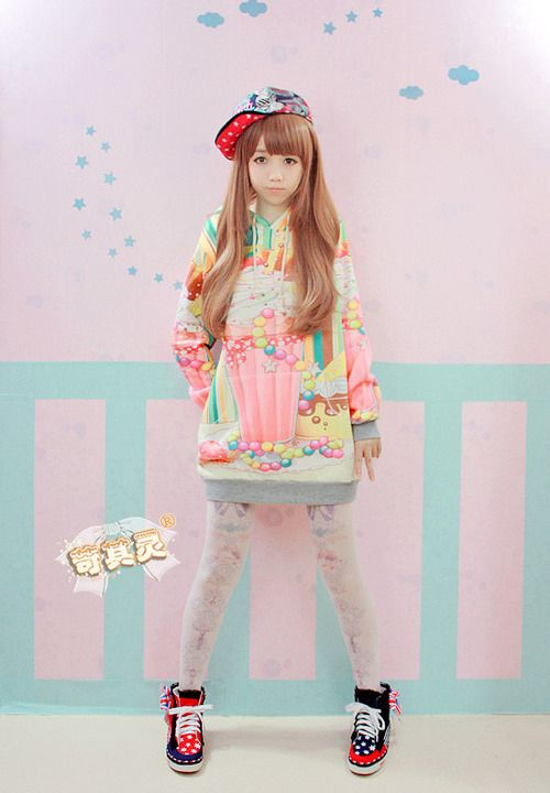 Kawaii sweater  ♡ ♥ ロリータ, Deco Lolita, Loli, Fairy Kei, Pastel, Kawaii Fashion, Cute, Decora ♥ ♡