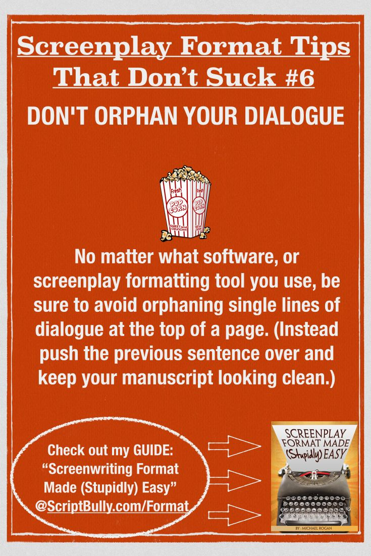 to get all your format questions answered check out my guide screenwriting