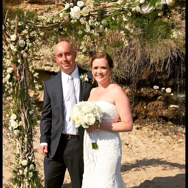 Our beach wedding, planned with a little help from Pinterest  #kefalonia