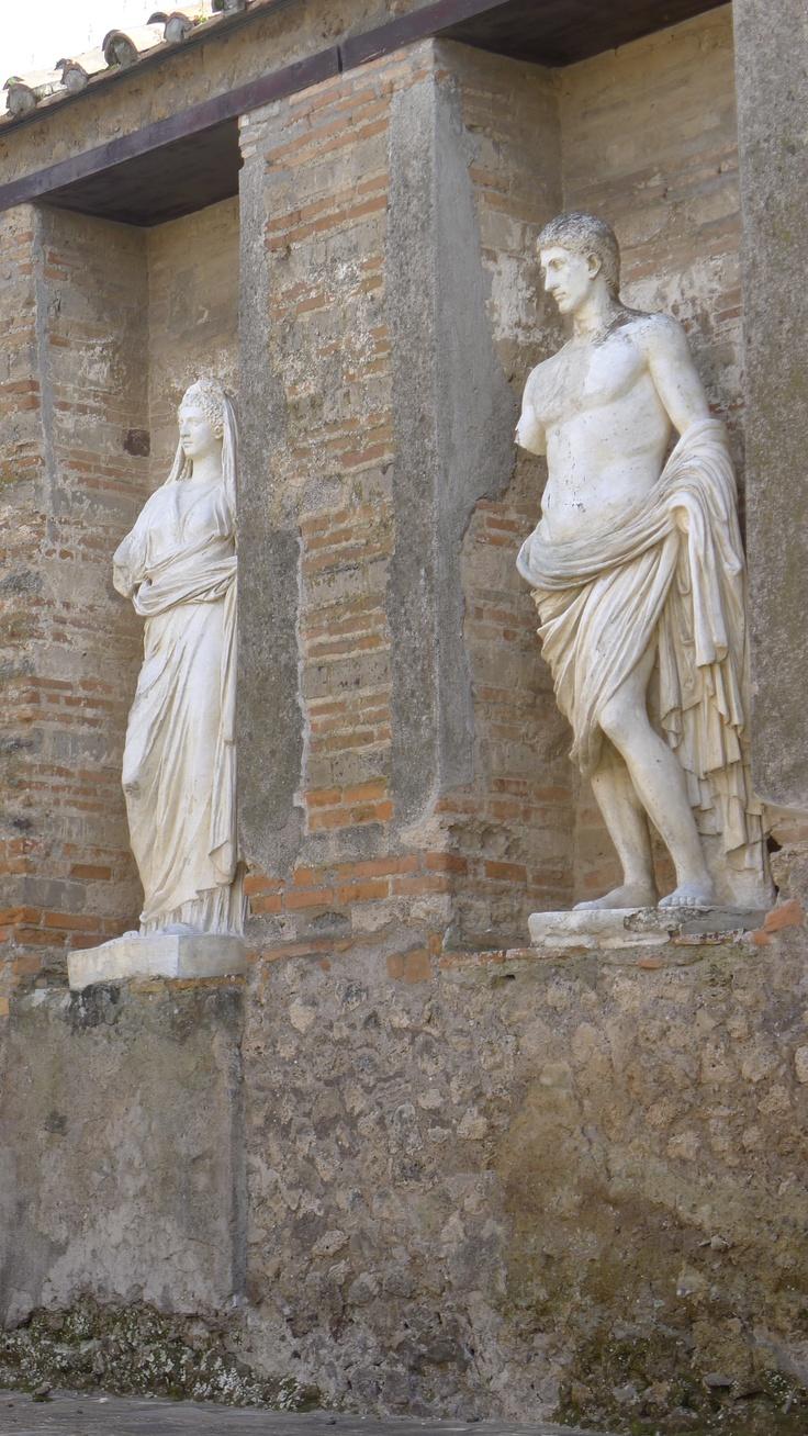 sculptures in Pompei, Italy