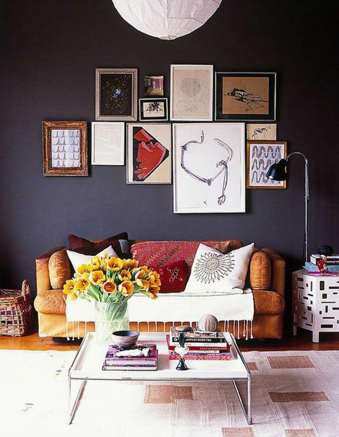 Wände Streichen Ideen In Dunklen Farbtönen Lassen Ihr Zuhause Einmalig  Erscheinen. Weil Aber Dunkle Farben Keine übliche Entscheidung Für Die  Wandbemalung.