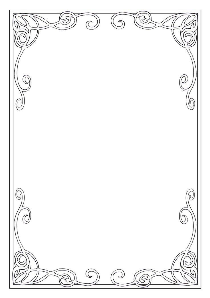 Art Nouveau Frame Patterns Texture Amp Mark Making