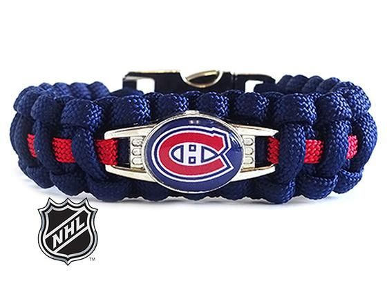 Officially Licensed NHL Montreal Canadiens Paracord Bracelet