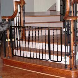 "Wrought Iron Decor Gate Extension Black 10.5"""""""""