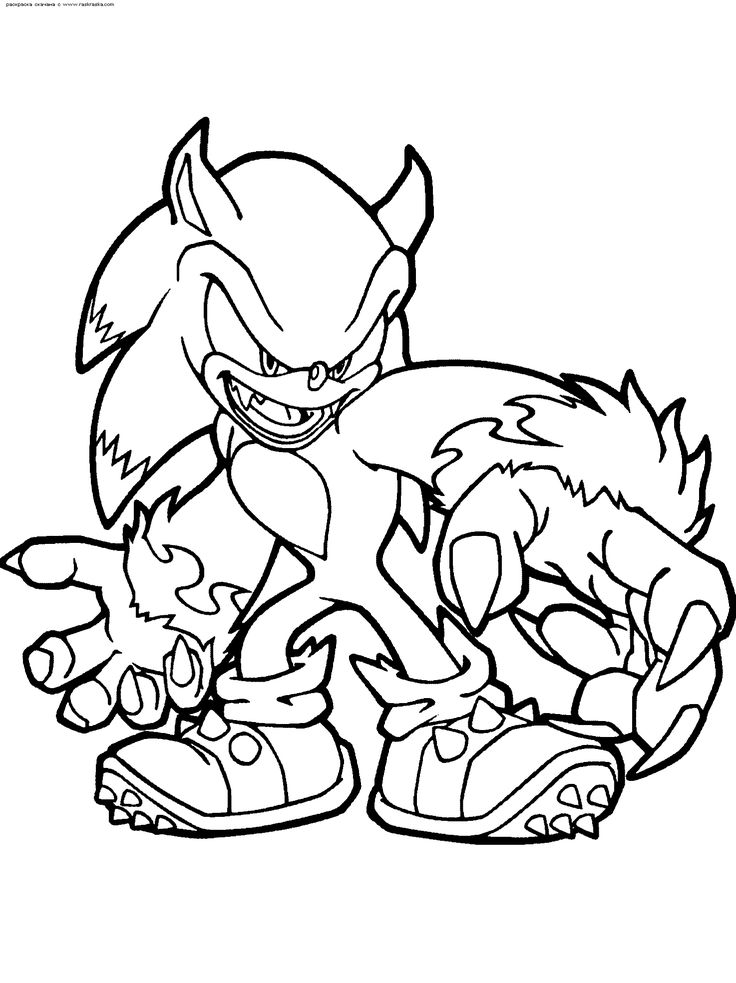 14 best print out coloring pages images on Pinterest Sonic