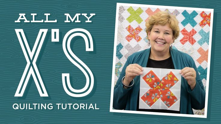 """Make an """"All My X's"""" Quilt with Jenny!-Jenny demonstrates how to make the All My X's Quilt using 5 inch squares of precut fabric (charm packs) or 10 inch squares of precut fabric (layer cakes).  approx quilt size: 69"""" x 78""""."""