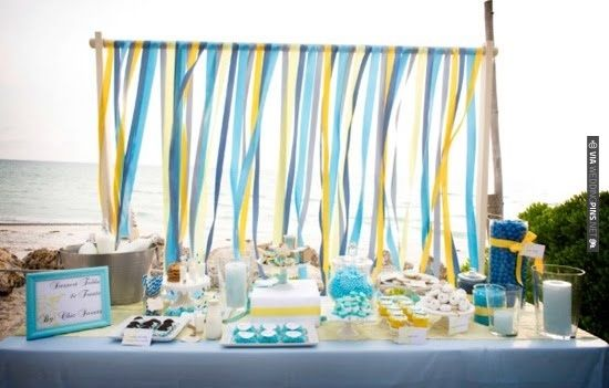 Beach Wedding Dessert Buffet | VIA #WEDDINGPINS.NET