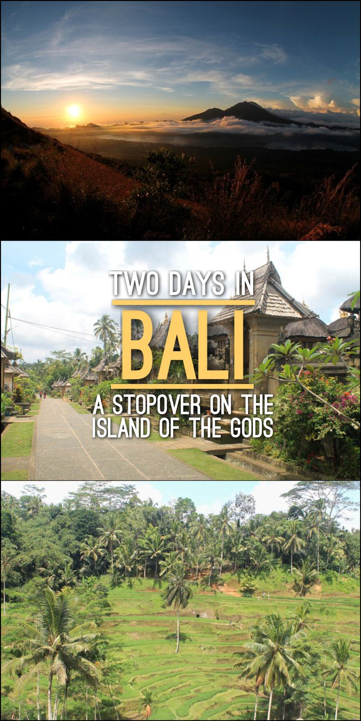 Two days in Bali is the perfect amount of time -- but then you should head for the more interesting islands nearby!