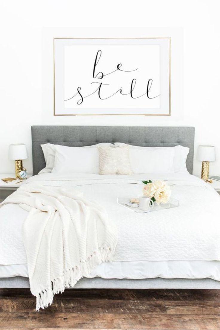 Weißes Schema im Schlafzimmer Design