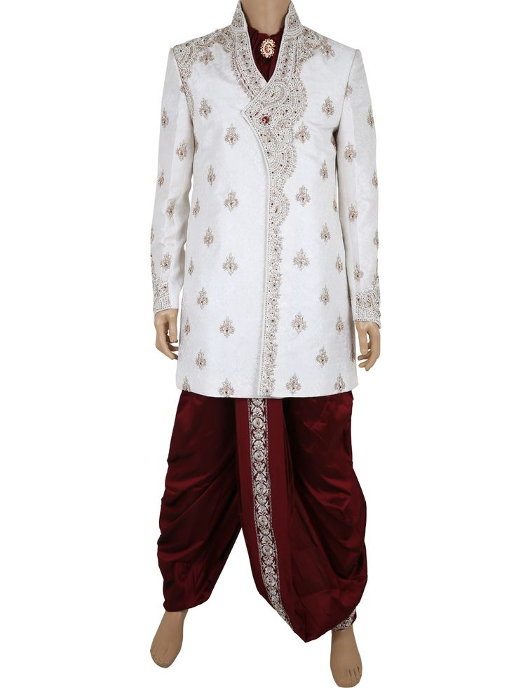 G3 Fashions White jamawar dhoti suit for men Products code: G3-MDS0005 Price: ₹ 13,190.00