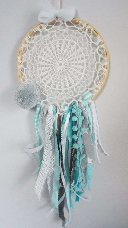 handmade dreamcatcher in turquoise www.mamapotrafi.pl