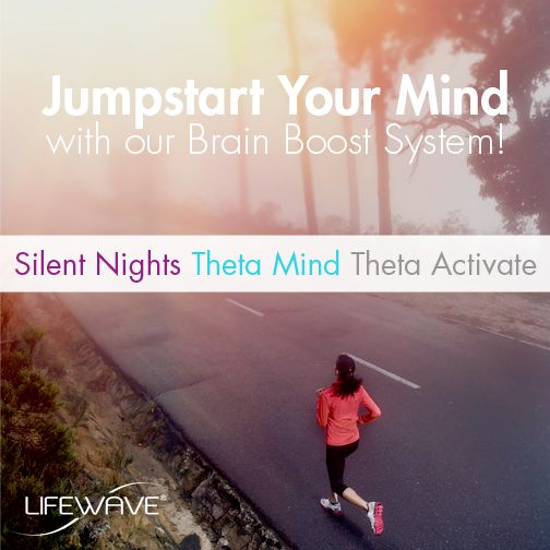 Does it feel like your brain needs a jumpstart? Maximize your brain power with our #BrainBoost System! This system includes #SilentNights, #ThetaMind, and #ThetaActivate. Help your brain run at full capacity. Talk to your local #LifeWave Distributor today! #PoweredByLifeWave