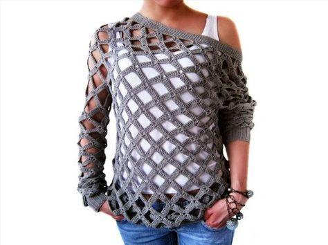Cómo Tejer una Blusa Calada a Crochet - Tutorial - Manualidades Y DIYManualidades Y DIY