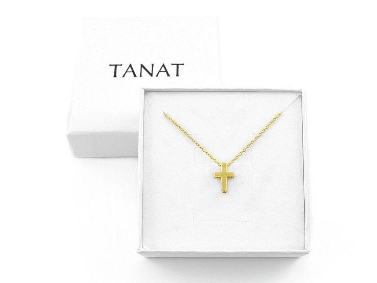 Pozłacany naszyjnik KRZYŻ. Gold CROSS necklace. http://www.tanat.eu/naszyjniki/1825-pz-naszyjnik-krzyz.html