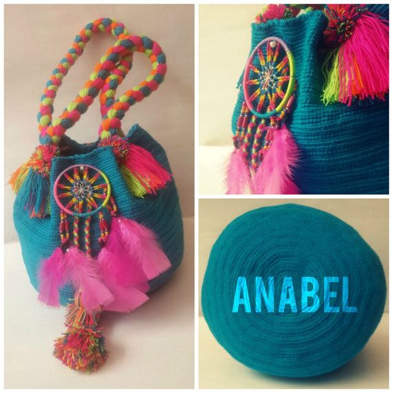 Mochila Wayuu hecha a mano por MissAbigailShop en Etsy, $135.00