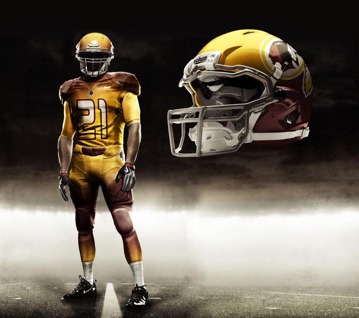 redskins pro combat uniform concept Redskins Nfl