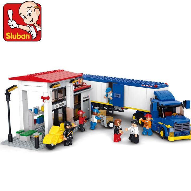 (28.49$)  Watch more here - http://ai13q.worlditems.win/all/product.php?id=32694008126 - Sluban model building kits compatible with lego city truck 708 3D blocks Educational model & building toys hobbies for children