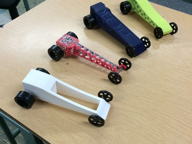 3D Printed CO2 Cars Made By High school Class: http://3dprint.com/4230/3d-printed-co2-car-race/