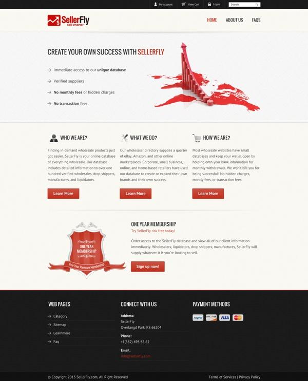 Sellerfly Ecommerce Website Design by Masood , via Behance