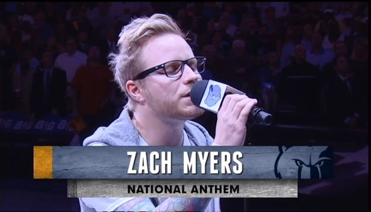 Zach Myers singing the National Anthem at the Memphis Grizzlies / Oklahoma Thunder game!