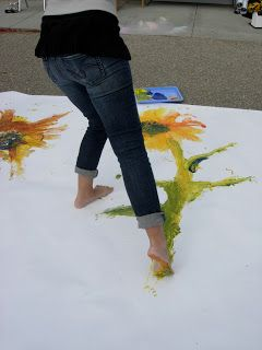 Foot painting on bucket list