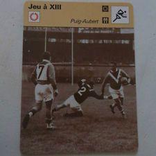 FICHE JEU A XIII 13 RUGBY PUIG AUBERT PERPIGNAN CARCASSONNE SPORTSCASTER CARD L4