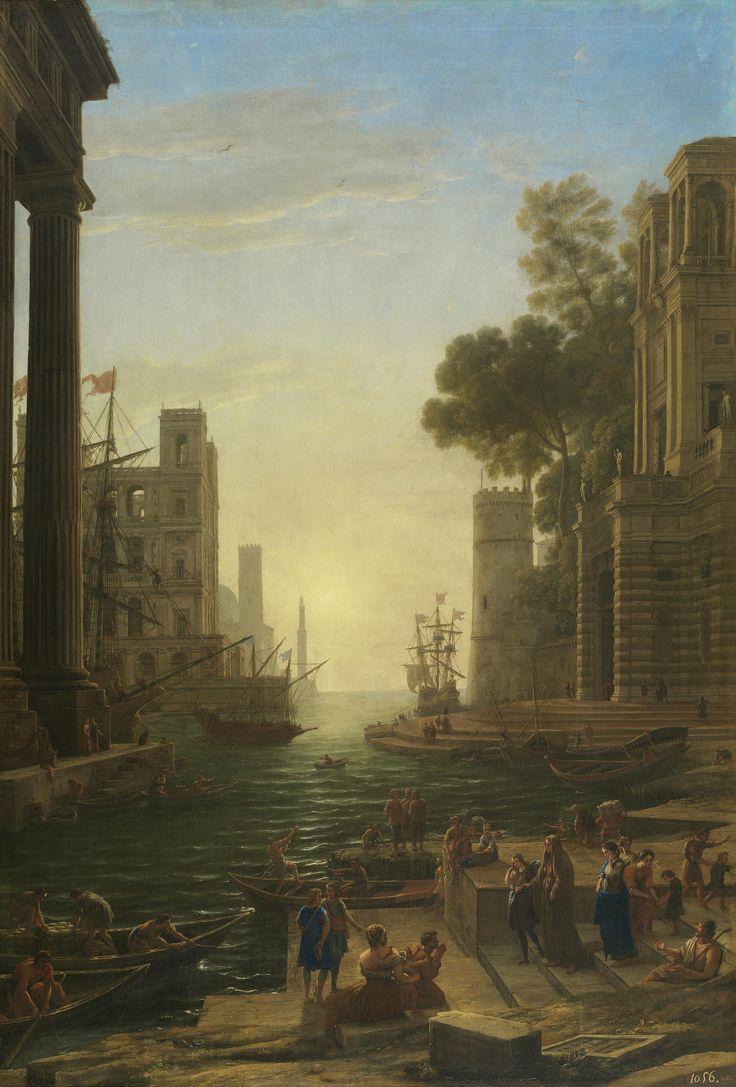Claudio de Lorena. El embarco de Santa Paula Romana. Propiedad exclusiva del Museo del Prado (Copyright de la imagen ©Museo Nacional del Prado)