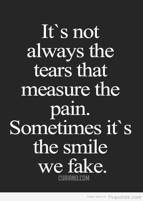 Not always the tears.