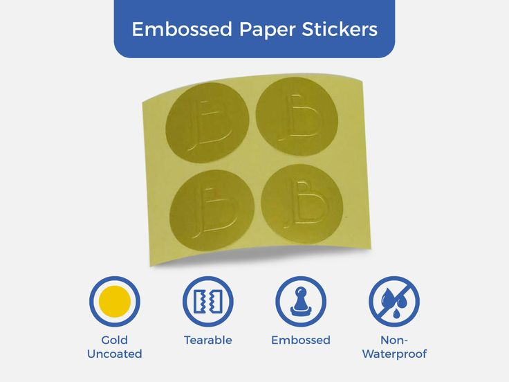Emphasize your design on your labels with #EmbossedPaper #Stickers! Get the premium quality of #EmbossedStickers for less.