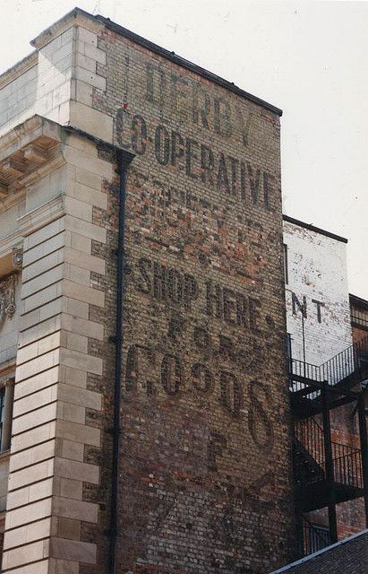Derby Co-Operative - Shop Here For Goods ghost sign