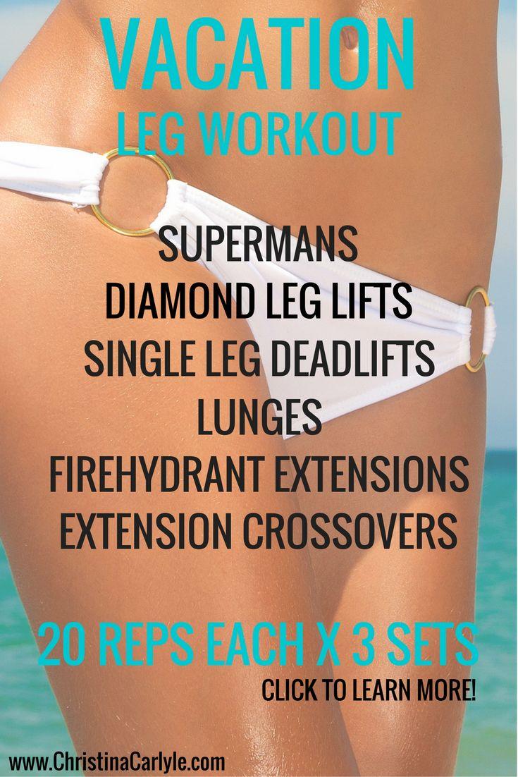 Vacation leg workout